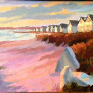 Wharf-Beach-Houses-8x10-acrylic-495(sold)