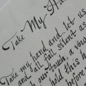 Calligraphy sample - Take My Hand