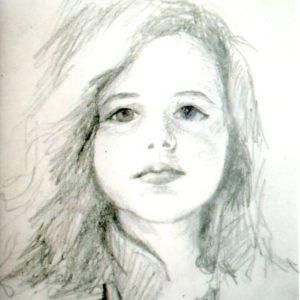 Ava 11x14 pencil portrait
