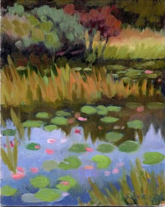 Bauer Farm Pond-Autumn 8x10 acrylic on panel 495.00