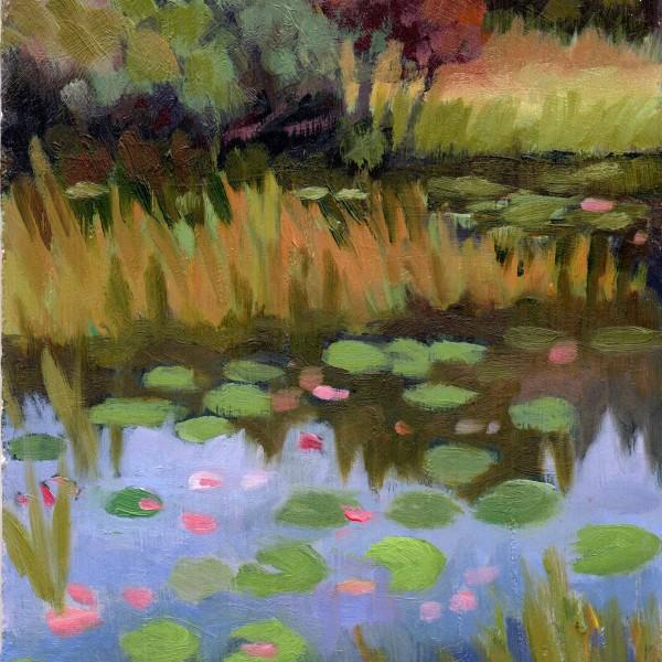 Bauer Farm Pond-Autumn 8x10 acrylic on panel 495.00