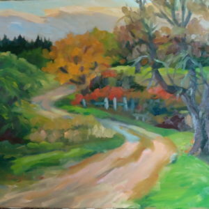 Bauer Farm Road 16x20 oil on canvas 1025.00