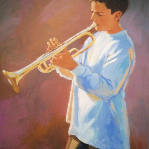 Blake's Music 22x28 Portrait Acrylic on canvas