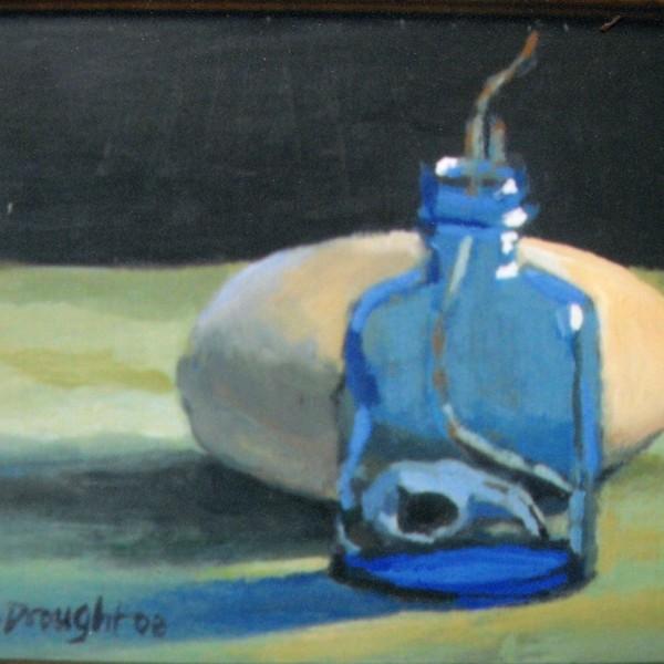 Blue Bottle 8x10 acrylic on panel 495.00