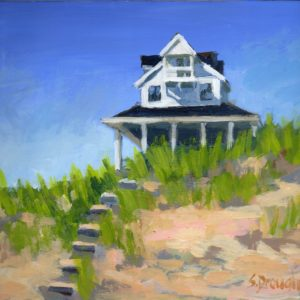 Cape Cottage 8x10 acrylic $495.00 (sold)