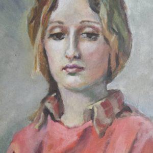 Chandra 16x20 acrylic on canvas Portrait