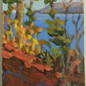 Overlook-Point Pleasant 5x7 acrylic on panel 350.00