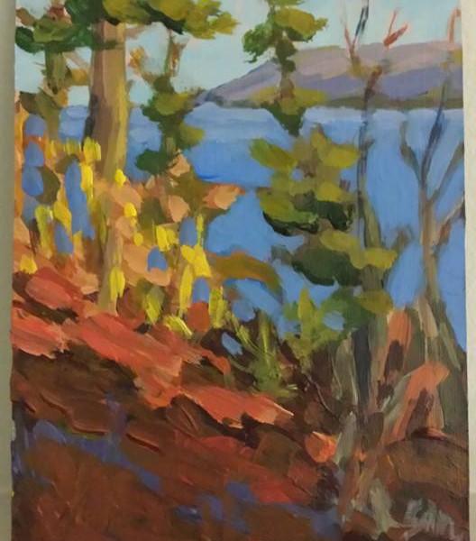 Overlook-Point Pleasant 5x7 acrylic on panel 350.00