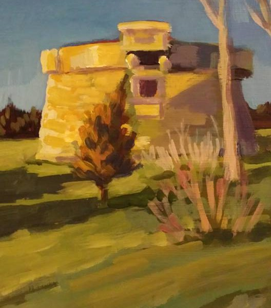 Point Pleasant Tower  8x10 acrylic on panel  500.00