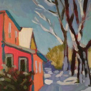 Yukon Street 8x10 acrylic on panel 495.00